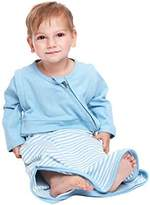 LETTAS Unisex Baby Cotton Stripe Removable Long Sleeve Sleeping Bag Blue M by LETTAS