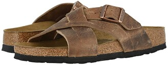 Birkenstock Lugano (Camberra Tobacco Oiled Leather) Men's Shoes