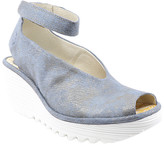 Fly London Women's Sandals 061 - Jeans Corcuma Ankle-Strap Yala Leather Peep-Toe Sandal - Women
