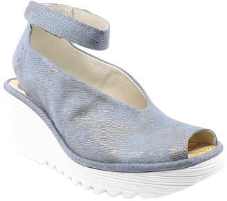 Fly London Women's Sandals 061 - Jeans Corcuma Ankle-Strap Yala Leather Peep-Toe Sandal - Women