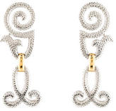 Christian Dior Textured Drop Earrings