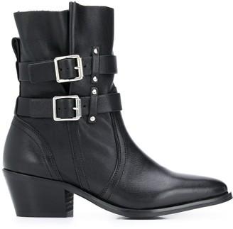 AllSaints Harriet buckled boots