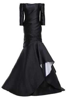 Monique Lhuillier Off-the-shoulder Draped Duchesse-satin Gown