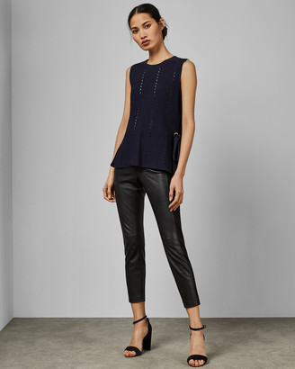 Ted Baker JEHSII Eyelet detail knitted vest top