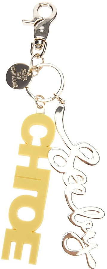 See by Chloe 'Block Letters' key ring