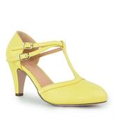 Yellow Kimmy T-Strap Pump