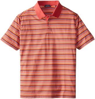 Cutter & Buck Men's Big-Tall Oakes Mercerized Multi Stripe Polo Shirt