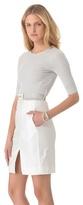 L'Agence Striped Bodice Dress