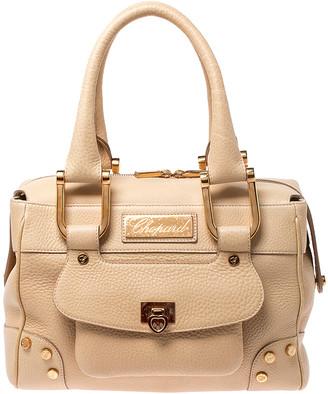 Chopard Beige Leather Caroline Happy Diamond Satchel