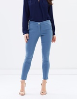 Forcast Vera Slim Cropped Pants