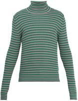 Maison Margiela Striped roll-neck cotton sweater