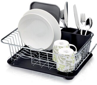 Kitchen Craft Dish Drainer with Drip tray, 42x30.5x15cm