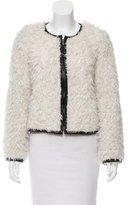 Smythe Faux Fur Leather-Trimmed Jacket