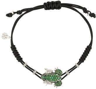 Pippo Perez 18kt white gold, garnet and diamond frog bracelet