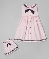 Good Lad Pink Nautical Dress & Doll Dress - Girls