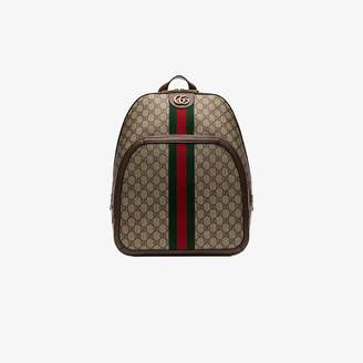 Gucci brown Ophidia GG print backpack