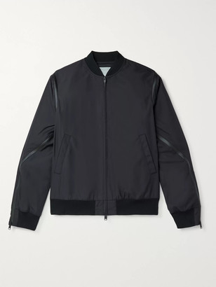 Bottega Veneta Zip-Detailed Padded Tech-Canvas Bomber Jacket