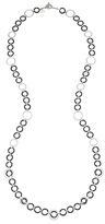 Alor Black & Gray Cable Loop Necklace, 36