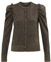 Dolce & Gabbana Frilled-trimmed Lurex Cardigan - Womens - Black Gold