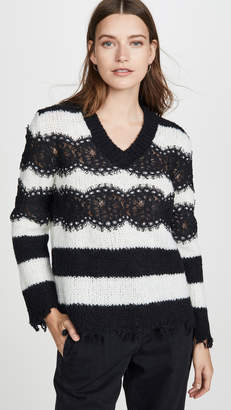Philosophy di Lorenzo Serafini Striped V Neck Sweater