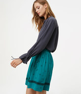 LOFT Petite Bloom Side Tie Skirt
