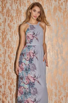 Little Mistress Joanna Grey Floral-Print Maxi Dress