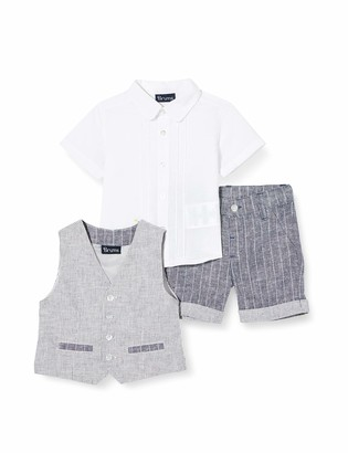 Brums Baby Boys' Completo 3 Pz Con Gilet Cot./lino Clothing Set