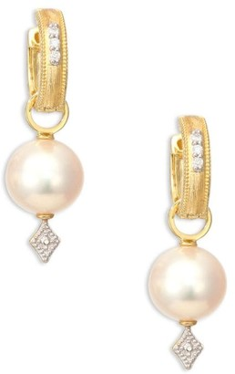 Jude Frances Lisse Diamond, Pearl & 18K Gold Earring Charms