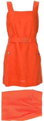 Hermes Pre-Owned Belted Skirt Playsuit