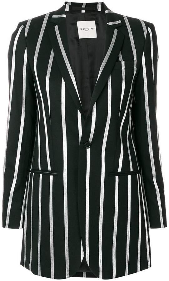 Each X Other striped oversize blazer