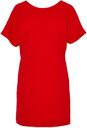 IRO Lace-up Crepe Mini Dress
