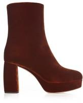 Miu Miu Velvet platform ankle boots