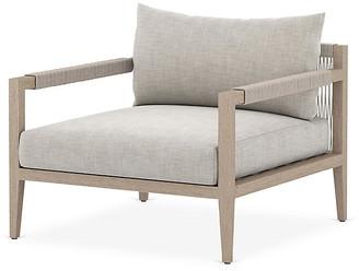 One Kings Lane Sherwood Outdoor Chair - Brown/Stone Gray