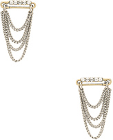 Marc Jacobs Safety Pin Layered Chain Studs