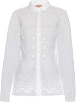 No.21 NO. 21 Embroidered cut-out silk-organza shirt