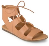 Journee Collection Women's Lace-Up Flat Gladiator Sandals