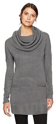 Sag Harbor Women's Long Sleeve Cowl Neck W/2 Pockets Pullover