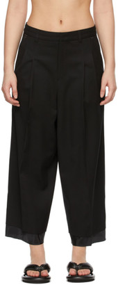 Ader Error Black Wool Layered Trousers