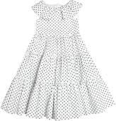 Dolce & Gabbana Dots Print Cotton Poplin Long Dress