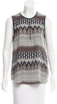 L'Agence Printed Sleeveless Top w/ Tags
