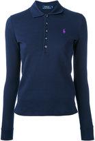 Polo Ralph Lauren long sleeve polo shirt - women - Cotton/Spandex/Elastane - M
