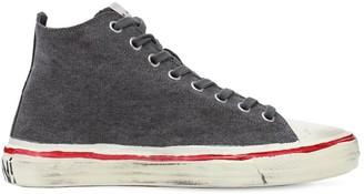 Marni Olona Cotton Canvas High-Top Sneakers