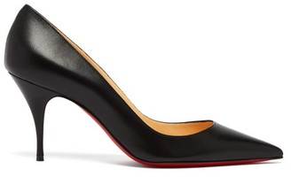 Christian Louboutin Clare 80 Leather Pumps - Womens - Black