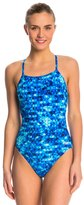 Speedo PowerPlus Nano Fracture Flyback One Piece Swimsuit 8144606