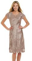 SL Fashions S.L. Fashions Crinkle Satin Dress