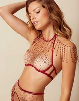 Agent Provocateur Sashah Bra Nude And Burgundy