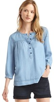 Gap Tencel® shirred popover