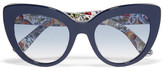 Dolce & Gabbana Escape Cat-eye Acetate Sunglasses - Navy