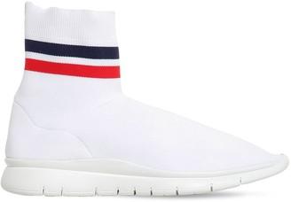 Joshua Sanders Striped Nylon High Top Sock Sneakers