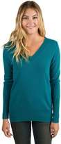 JENNIE LIU Women's 100% Pure Cashmere Long Sleeve Ava V Neck Pullover Sweater (L, )